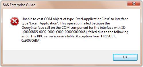 Error opening exel file - SAS Support Communities