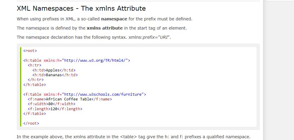 XMLNS Attribute In Table Name Causes XML Engine Li