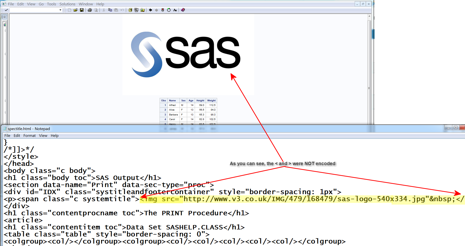Solved: HTML5 and HTML tags in my title    possible ? - SAS Support