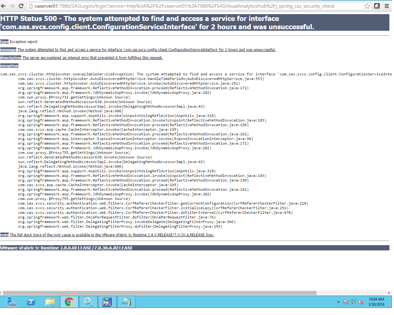 SAS Visual Analytics error - SAS Support Communities