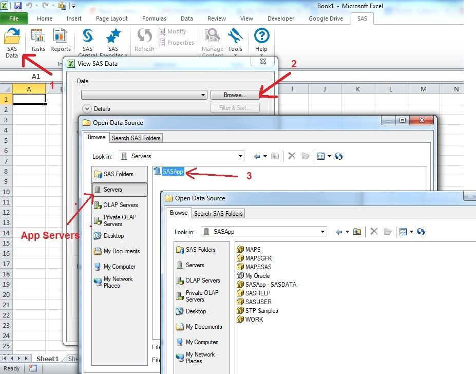 Solved: Add-In for Microsoft Office: connect to library - SAS