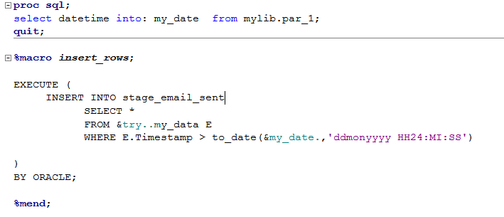How to pass datetime parameter in oracle sql query