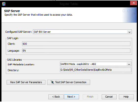 Solved: Connecting to SAP BW - SAS Support Communities