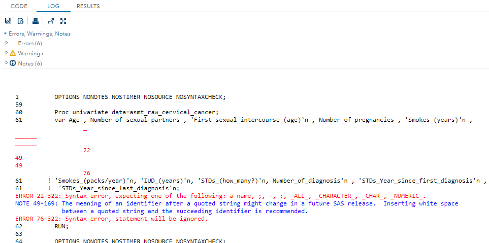 error_running_proc_univariate.PNG