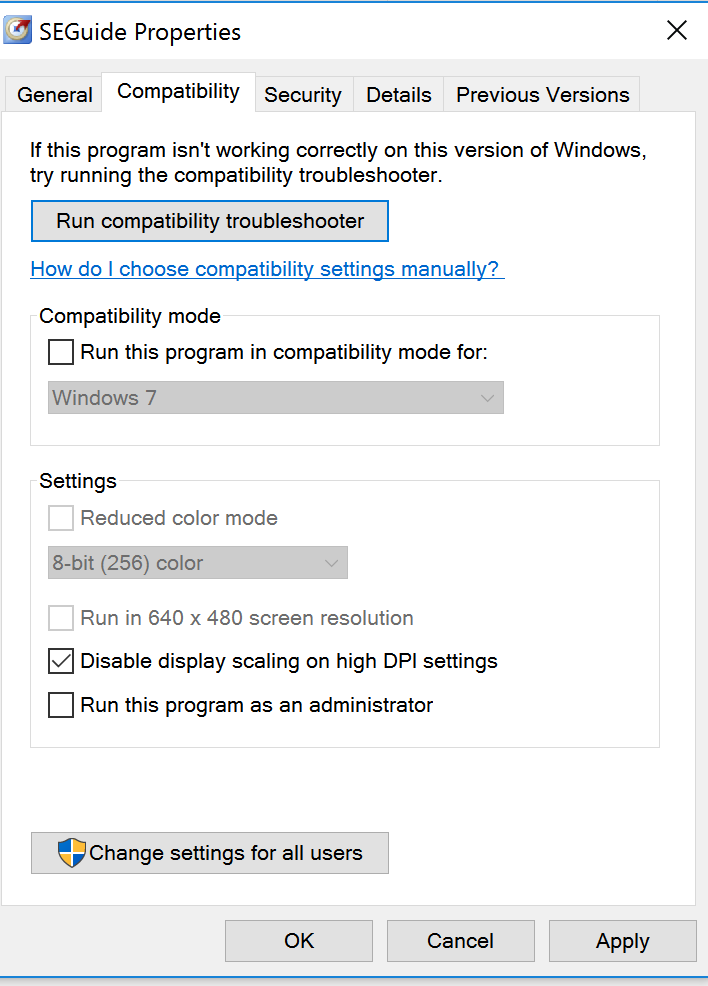 Display Issues SAS E-Guide on Windows 10 - SAS Support