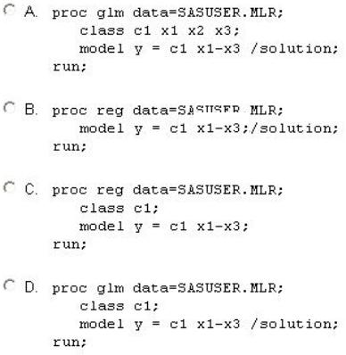 Solved: PROC GLM vs  PROC REG with categorical predictor - SAS