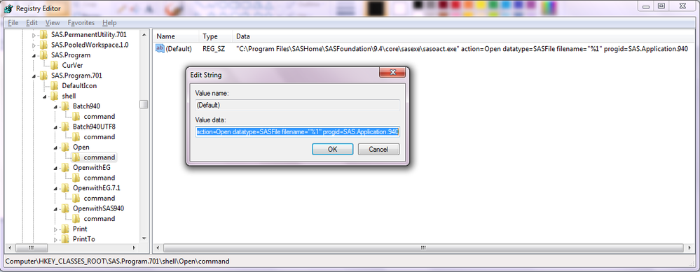 Fixing  SAS file associations with SAS 9 4 - SAS Support