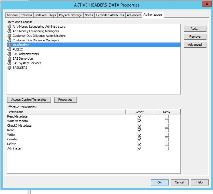 ERROR: Metadata Server denied access to operation  - SAS Support