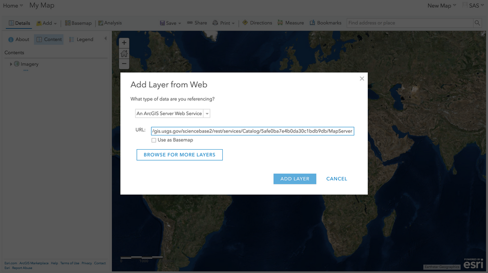 How to create your first web map into a SAS Visual    - SAS