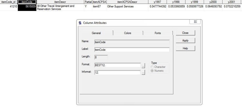 How do you force a column variable to be character    - SAS
