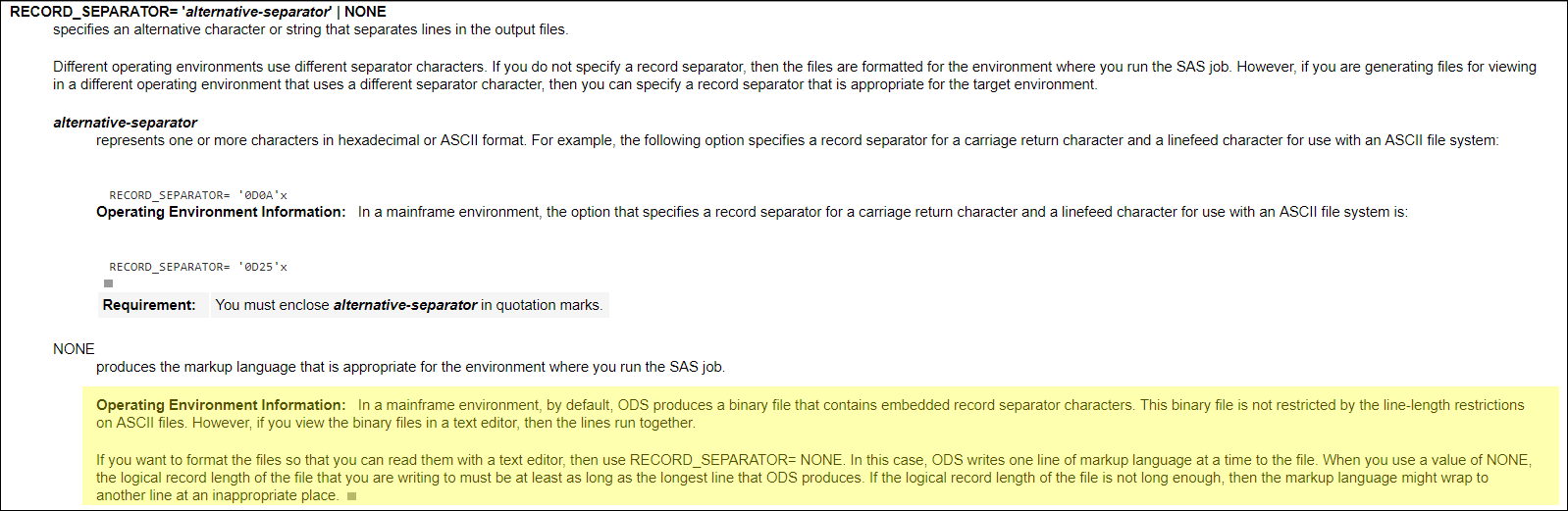 sas mainfrmae html readable format - SAS Support Communities