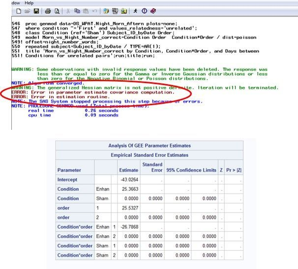 PROC GENMOD Poisson - GEE vs Maximum Likelihood an    - SAS