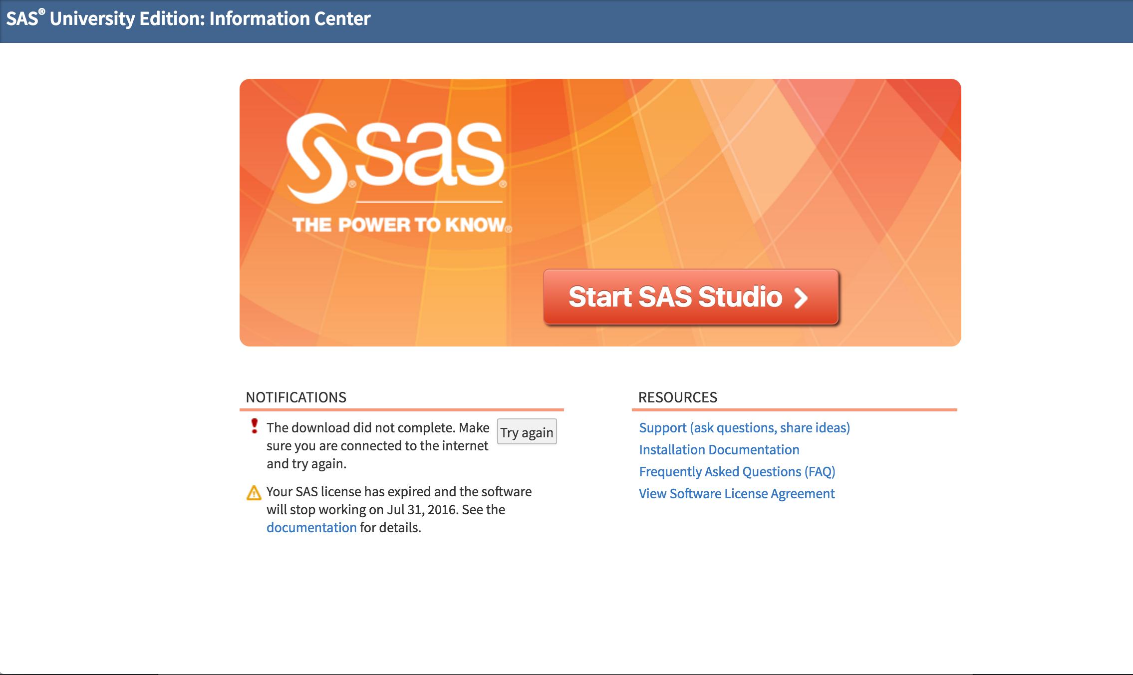 Time to renew your license for SAS University Edition - SAS