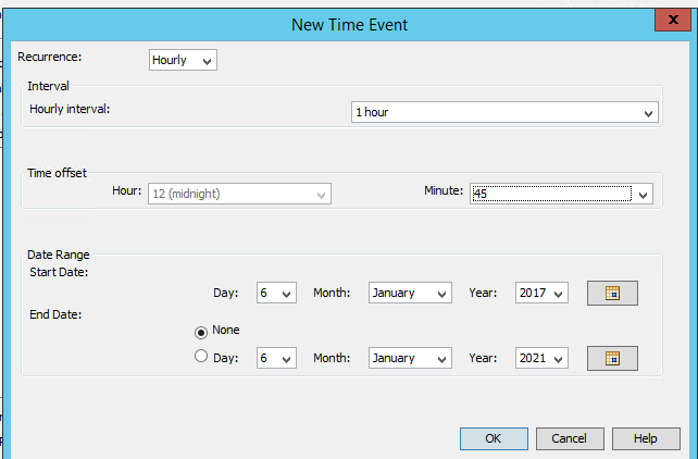 Scheduling a SAS job to execute after every 5 min - SAS