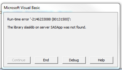 AMO Excel - How do I read table in SAS library and    - SAS Support