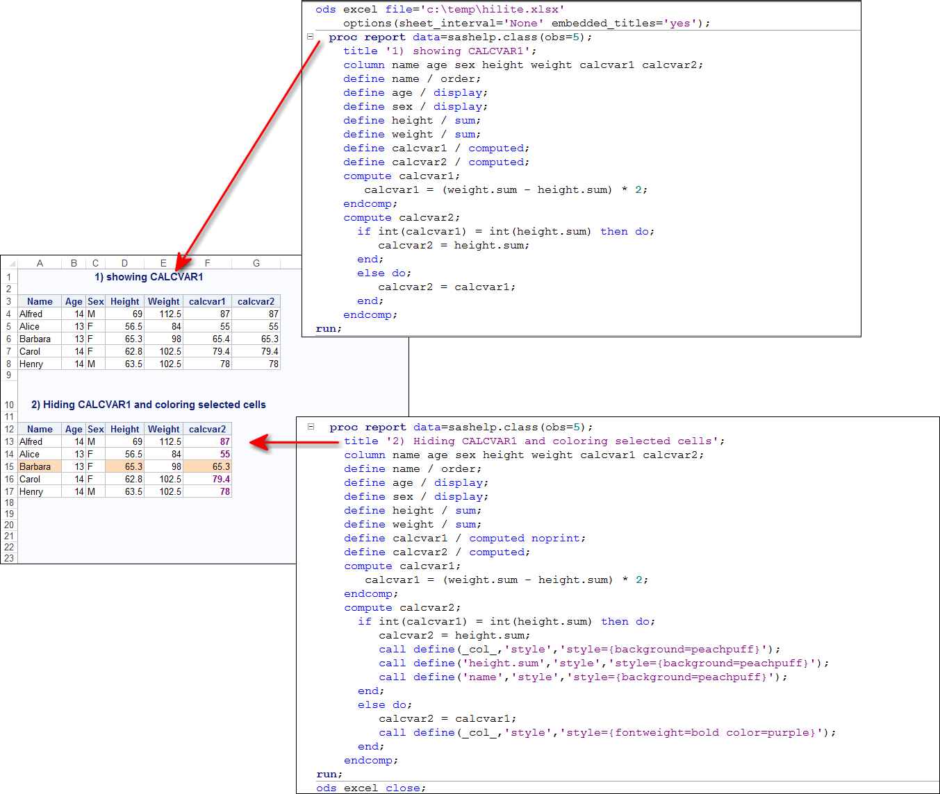 Solved: how to color excel output - SAS Support Communities