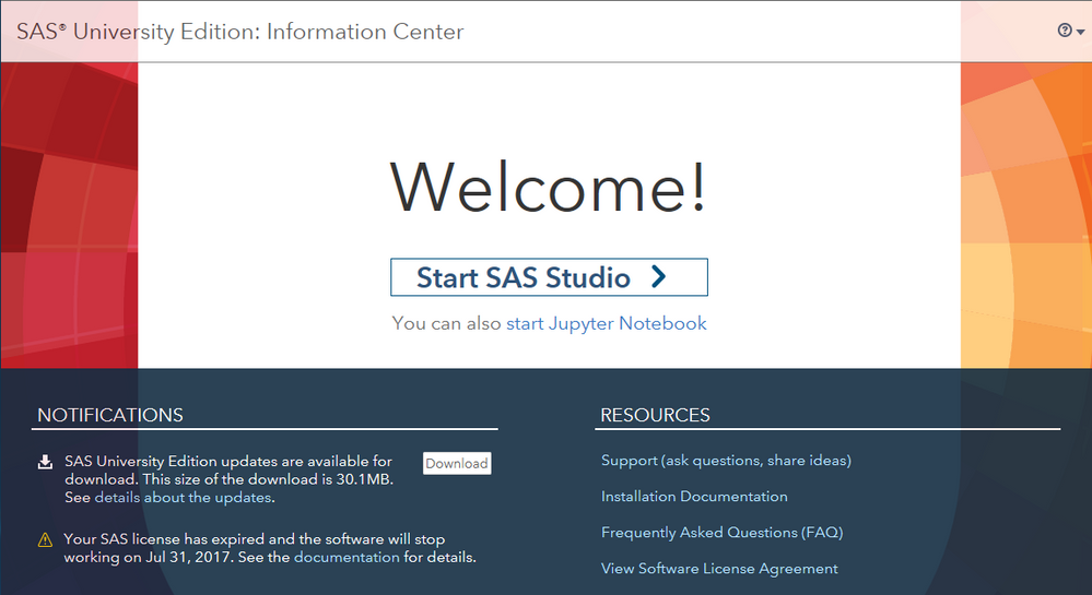 Time to renew your license for SAS University Edition - SAS Support