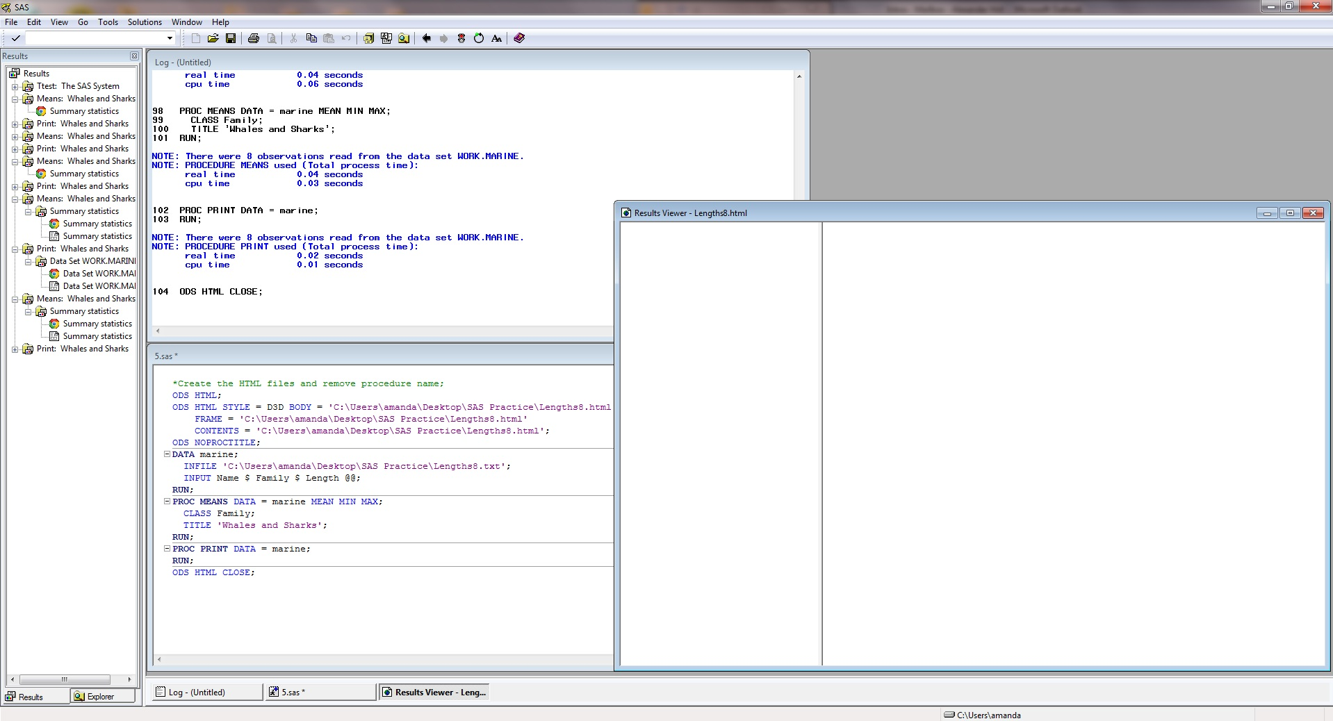 Solved: Results Viewer - SAS Output Frame is Blank - SAS Support ...