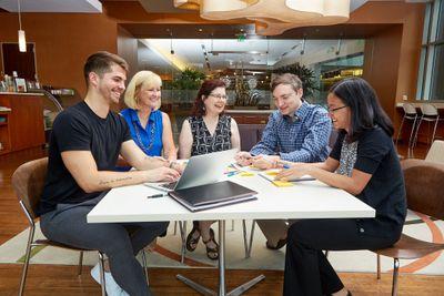 From left: Mark Malek, Cheryl Coyle, Karen Mobley, Sam Pipkin and Jeanne Marie Tan