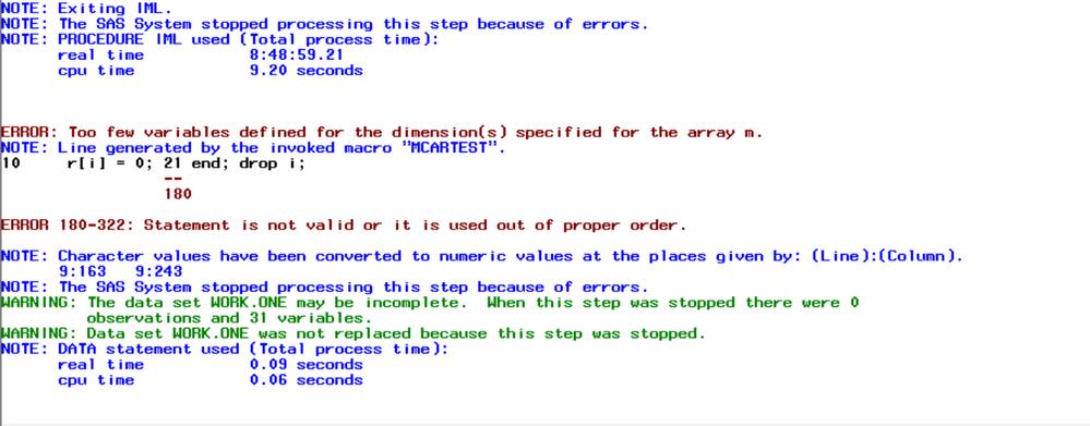 Mcar Error
