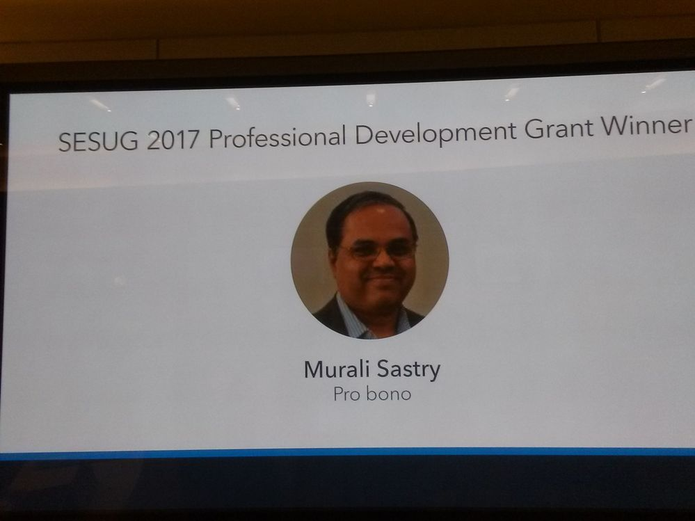 SESUG 2017-Professional Development Grant from SAS Institute & SESUG