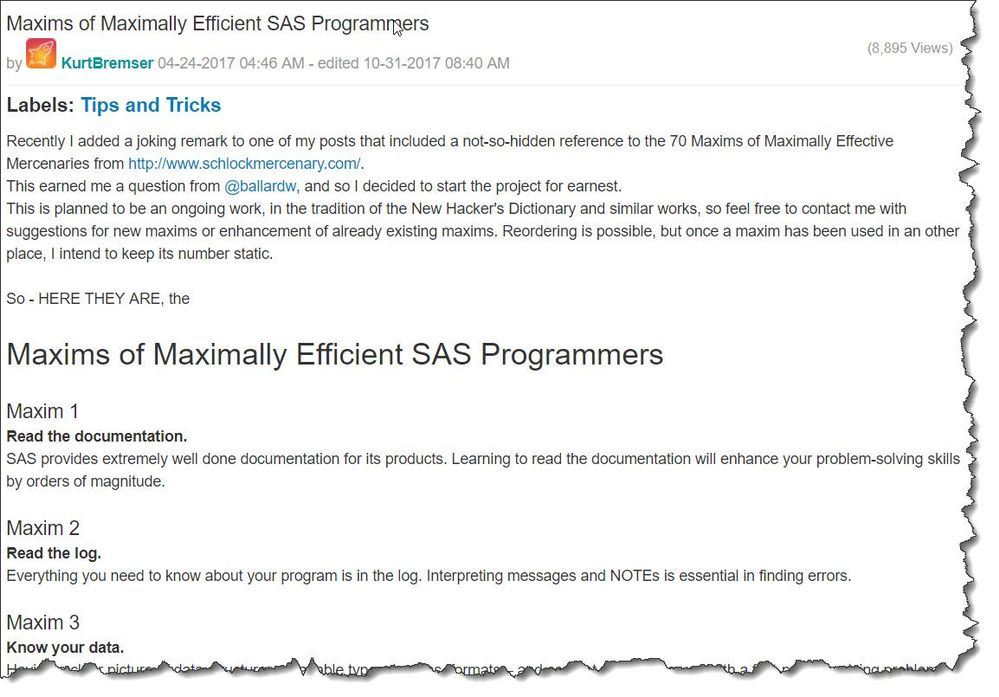 Maxims of Maximally Efficient SAS Programmers by Kurt Bremser.jpg