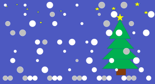 Animated snowfall in Visual Analytics