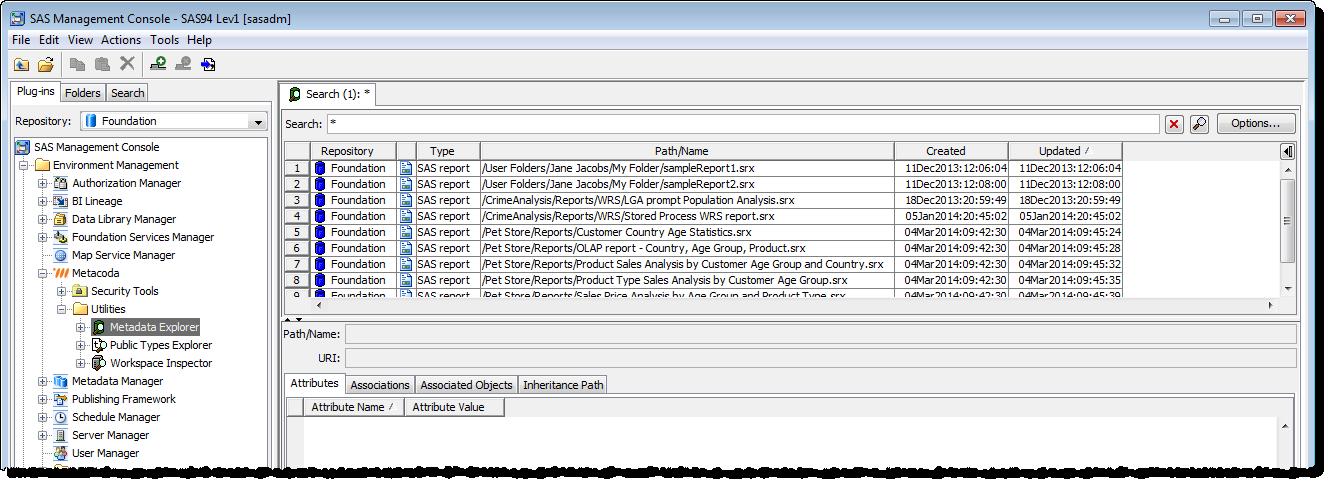Metacoda Metadata Explorer: reports with dates