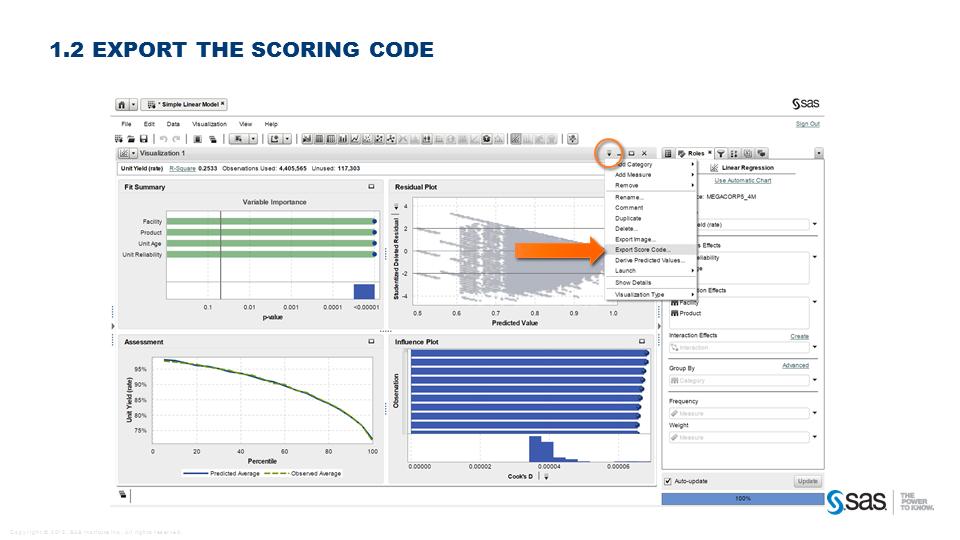 Export the score code