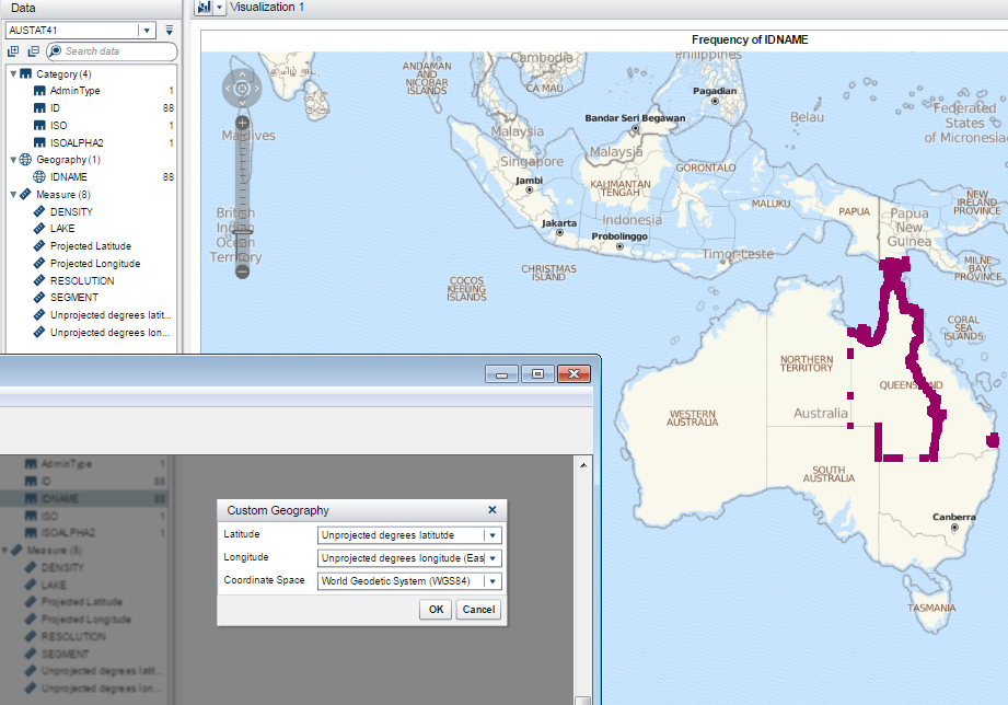 US CountyLevel Map In SAS Visual Analytics SAS Support Communities - Us counties map highlight demo