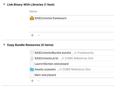 How to make the SASCollector framework visible to the project.png